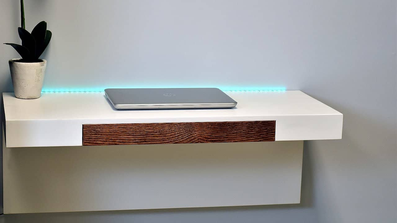 Minimalist Wall Mounted Desk With Compartments Fabville