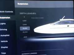 tesla 20000 leagues under the sea, tesla air suspension, tesla suspension settings, tesla suspension