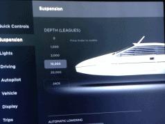 tesla 20000 leagues under the sea, tesla air suspension, tesla suspension settings, tesla suspension