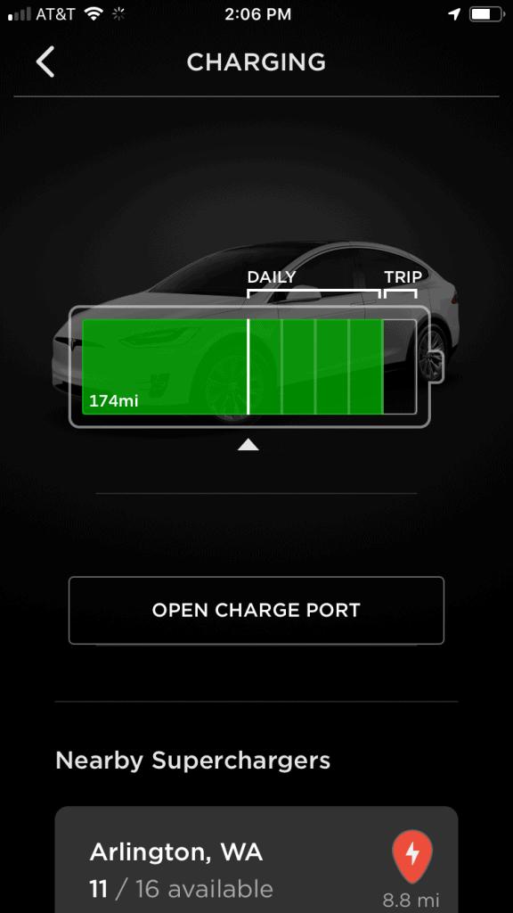 Tesla Range Update - Mileage estimate at 50%