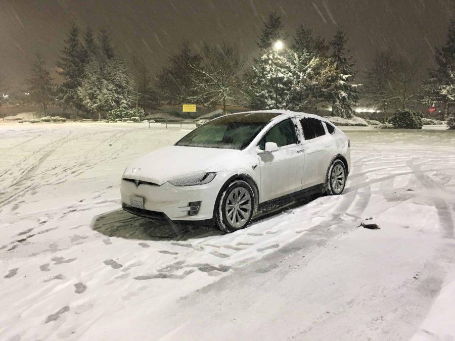Tesla Model X - Snow