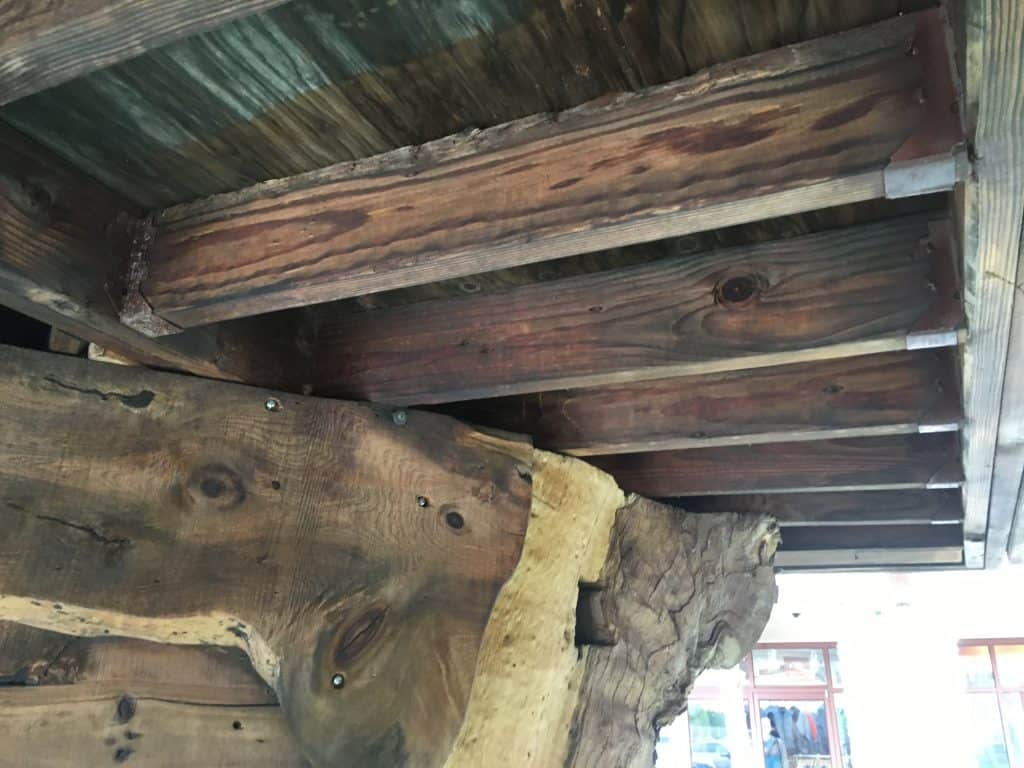 Whimsical Treehouse platform beams