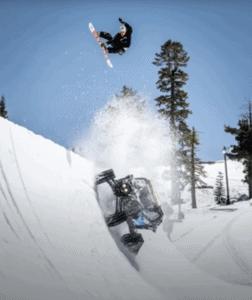 ken block tracked can-am, danny davis professional snowboarder
