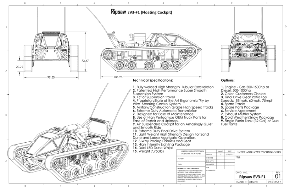 ripsaw tank by howe and howe technologies