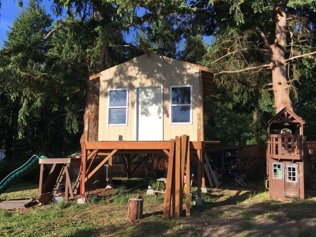 "custom treehouse ""dried in""."