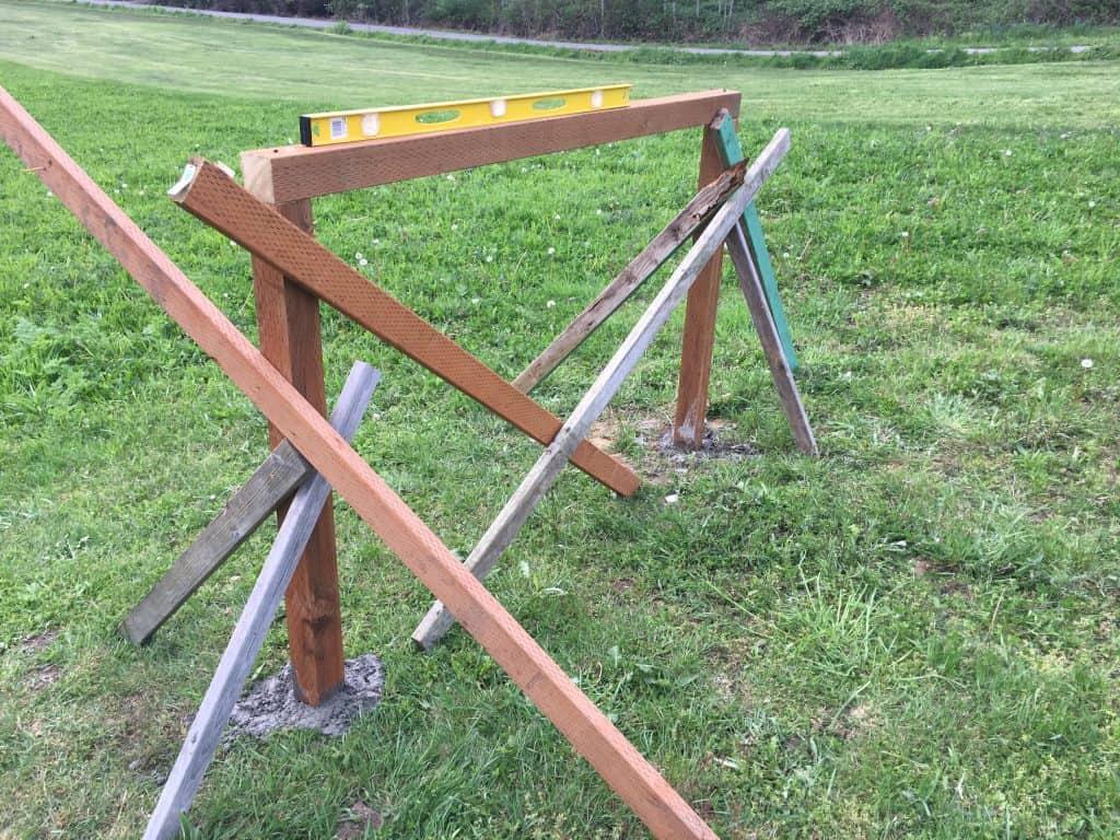 archery backstop framing