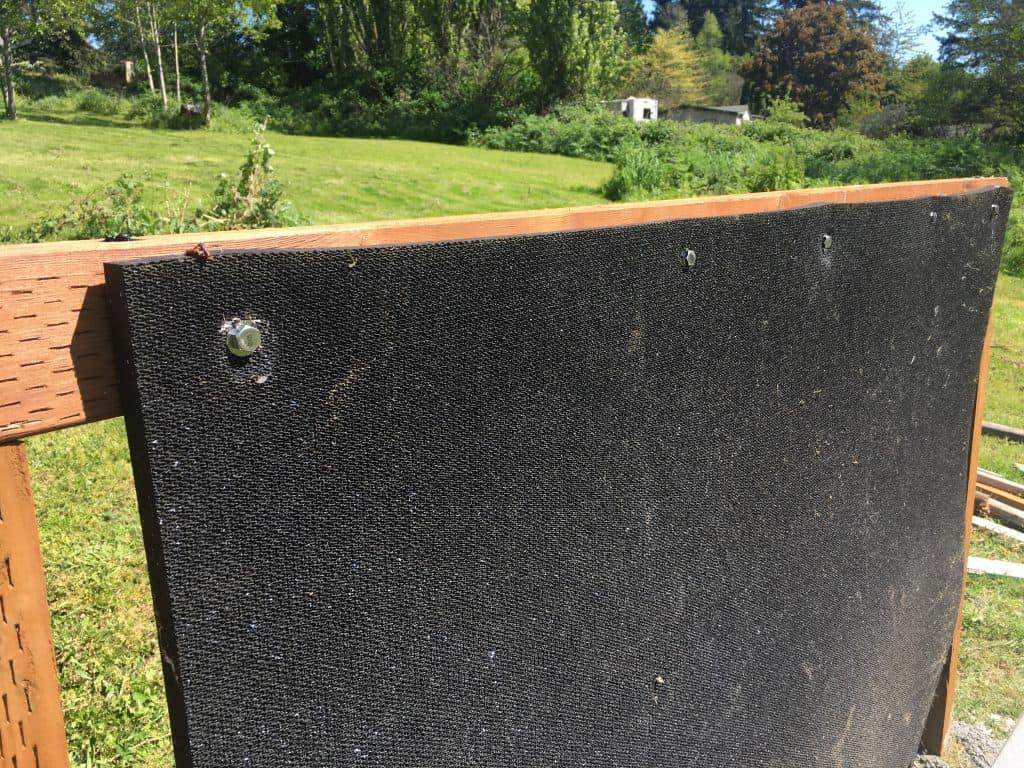 archery back stop mat install