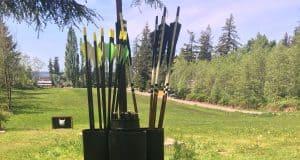 backyard archery arrow holder
