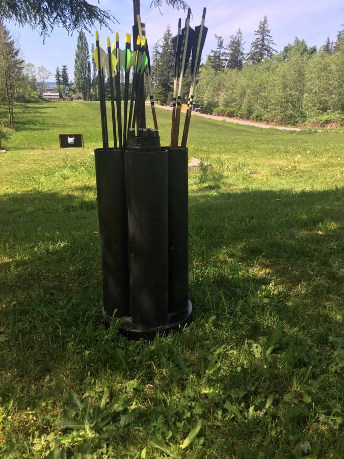 backyard archery arrow holder