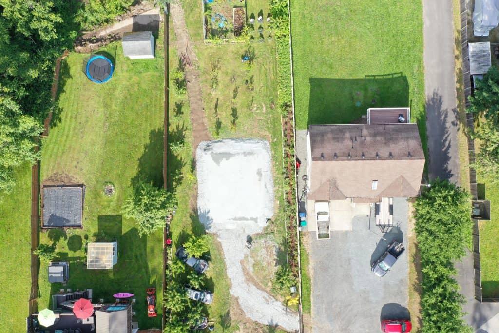 pad site (aerial view)