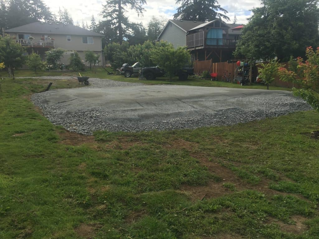 pole building pad site