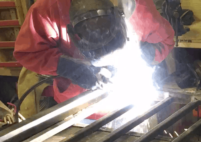 fabville kevin welding a gate