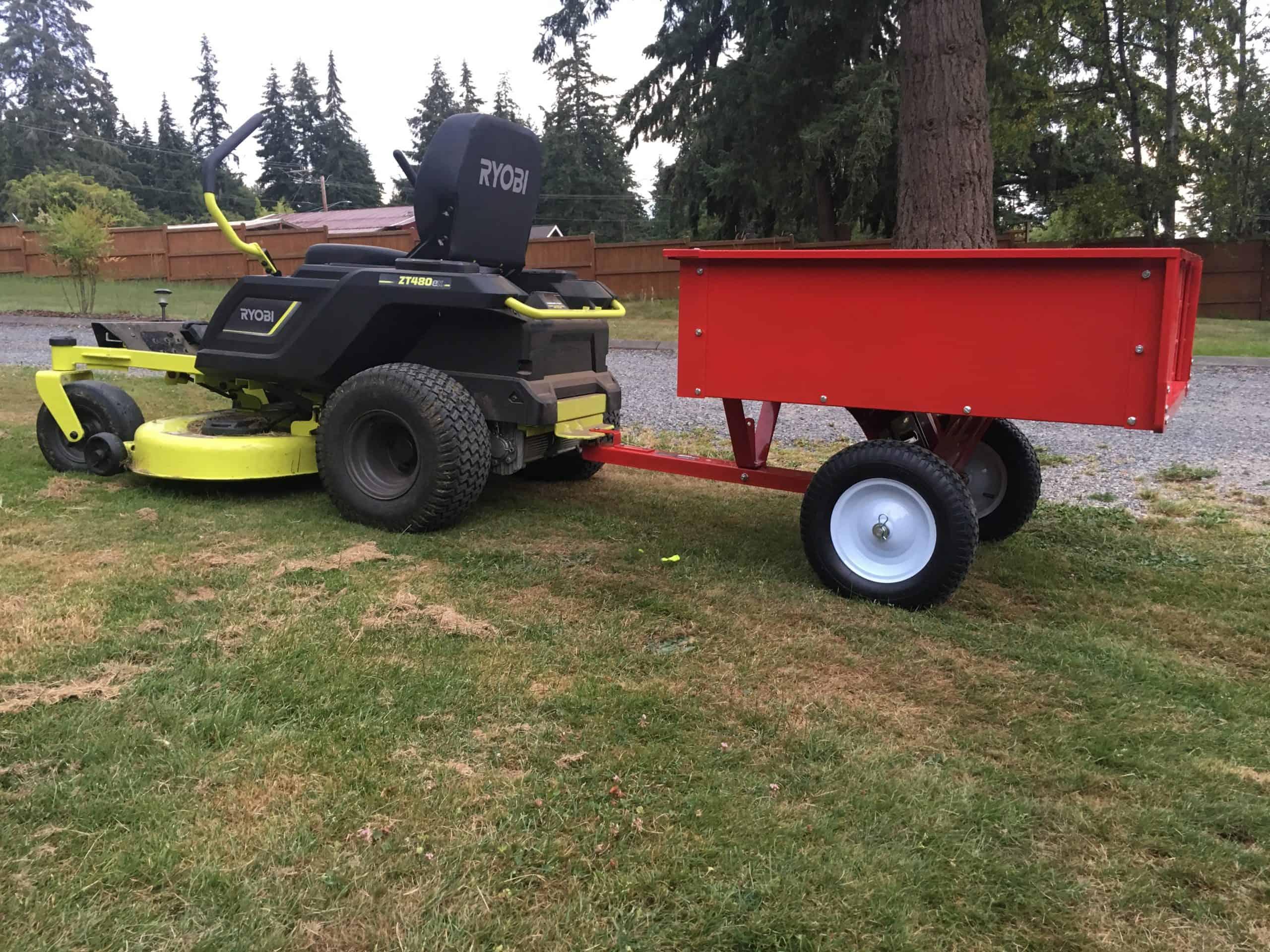 haulmaster-dump-cart-trailer-ryobi-zero-turn-mower