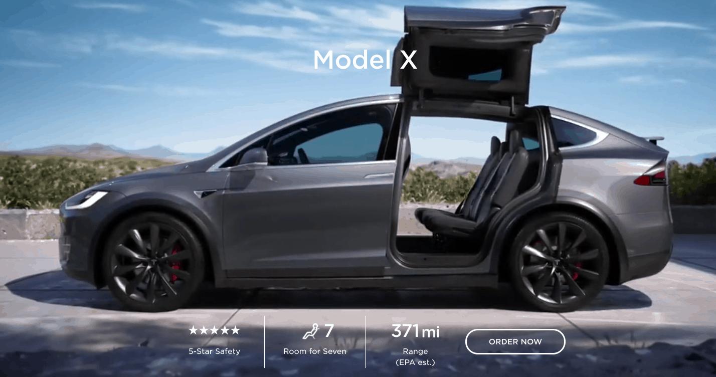tesla model x range increase