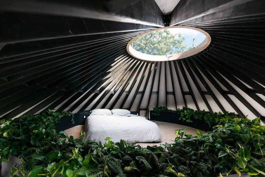modern yurt loft