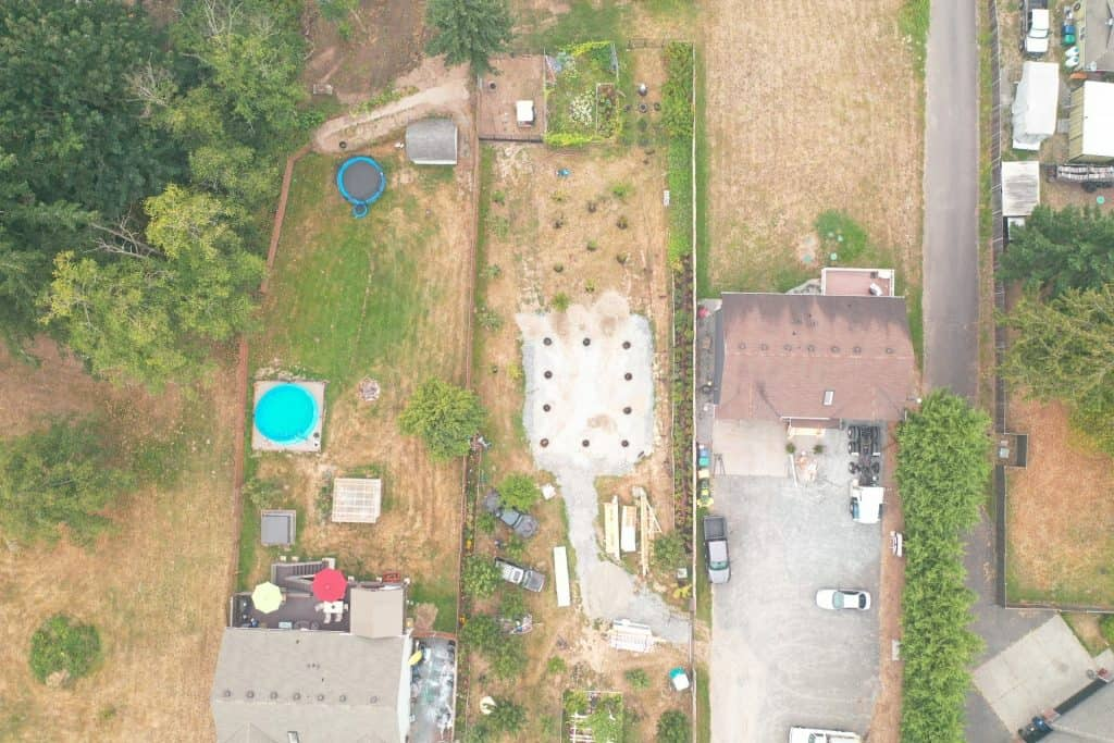 pole building holes (aerial view)